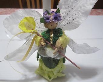 Fairy Queen, Corn Doll Fairy, Fairy Goddess Queen, Queen of the Fairies, Corn Doll for Spring, Fairy Decor, Fairy with Wand, Magical Fairy