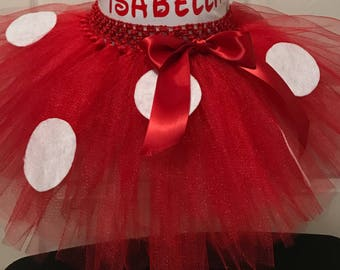 Red and White Polka Dot TUTU ONLY
