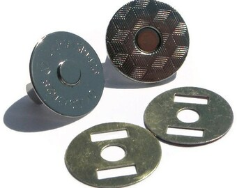Extra Thin Magnetic Snaps 100 sets 18mm 2 mm Nickel Plated