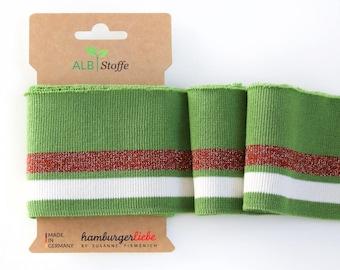 "Hamburger Liebe Albstoffe ""cuff Me"" glam green"