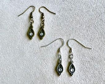 Gold or Silver Victorian Teardrop Earrings