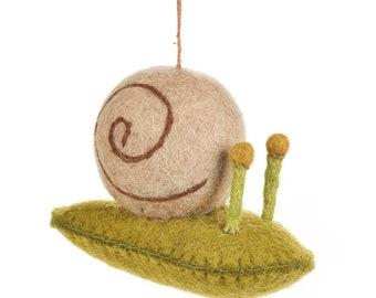 Snail  - Farmyard - Farmyard - Felt animals - Needle felted - Wool - Easter decorations - Ethical - Handmade