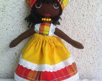 Completely hand-made Creole doll