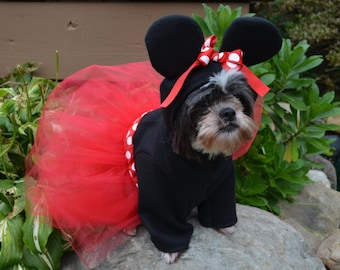 Hooded Dog Mouse Halloween Costume Sweatshirt smaller breed dogs