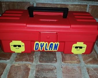 Lego Storage Case- Personalized Travel box Tool Box