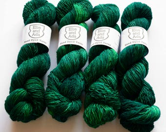 Grab The Nettle Hand Dyed Semi Solid Merino Singles