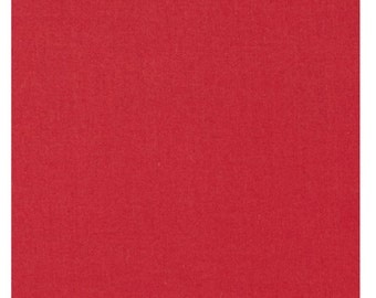 Organic Cotton Fabric Solid Red By Everyday organics by Clothworks