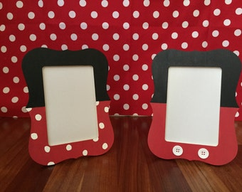 Mickey Mouse or Minnie Mouse Picture Frame