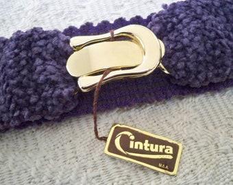 Vintage Accessory Women's Stretch Purple Cintura Belt  NOS Tags USA