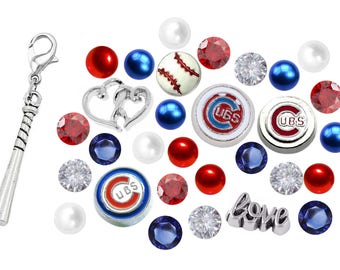 Cubs Floating Charm Czech Crysals