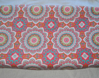 Pink Medallion Changing Pad Cover