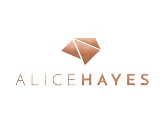 Pre-made Logo Design | 'Alice' | Geometric Logo | Photography Logo | Blog Header | Business Branding | Branding Design | Custom logo