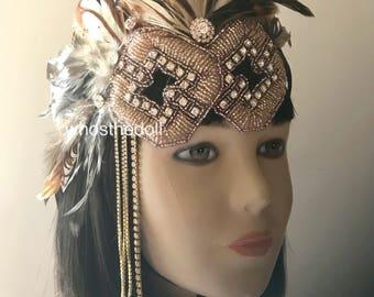 Gatsby headpiece/1920s headpiece/Flapper headpiece/Rhinestone headpiece/Bridal headpiece/hair accessories/hair jewelry/Clair