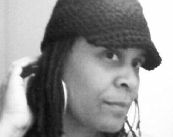 Black or Camo Military Crochet Hat