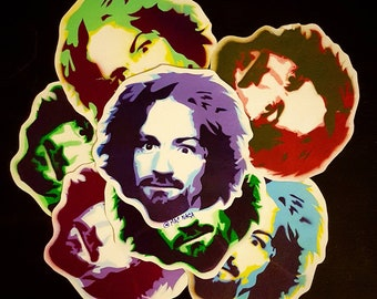 Charlie Manson stickers. 8 pack. Hand painted.