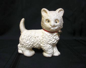Italian Celluloid Kitten Soft with Wonderful Detail Made in Italy