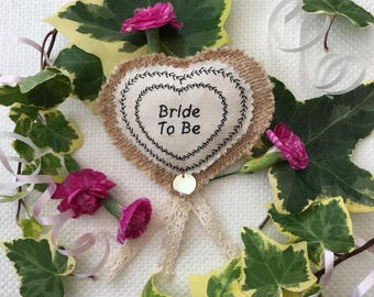 Bride to Be's Hen Party badge.