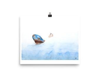 Shipwreck - Watercolor Print