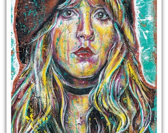"Art Print  Poster 12 x 18"" - Stevie Nicks - Fleetwood Mac music 70s rock'n'roll"