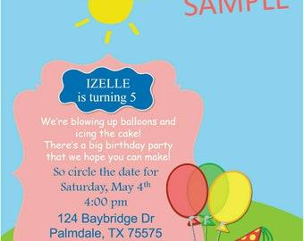 Peppa Pig Birthday Party Invite