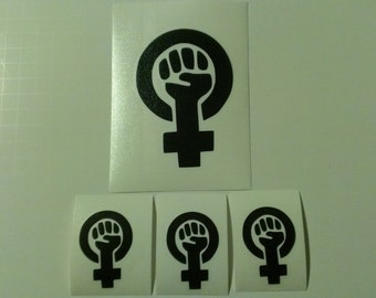 4 Decal set : 1 Large Feminism + 3 Small Feminism Decals.