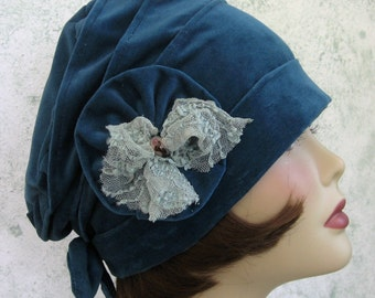 Womens Hat Pattern Flapper Style Cloche With Bow And Flower Trim Stylish Sewing Hat Pattern Misses Chemo Hat Pattern Instant Download