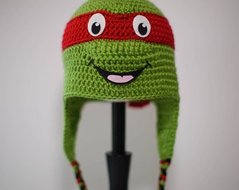 Crochet Ninja Turtle Hat