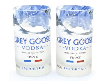Grey Goose Vodka Glasses - Tumblers- Made From Recycled Bottles