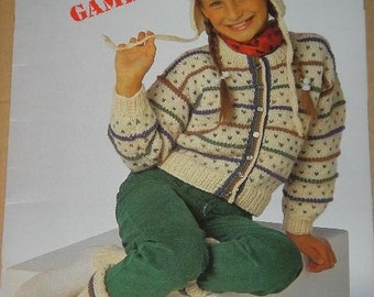FUN and GAMES Beehive Shetland-Style Chunky Patons Pattern book number 480 for sizes 4 to 10