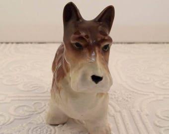 Sweet Vintage Enesco Terrier Ceramic Figurine - Norwich Terrier Dog