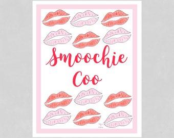 Kiss Print, Makeup Print, Lip Print, Lipstick Print, Bedroom Print, Bathroom Print, Funny Art Print, Girl Print, Funny Home Decor