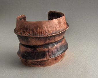 Foldformed Copper Cuff Bracelet