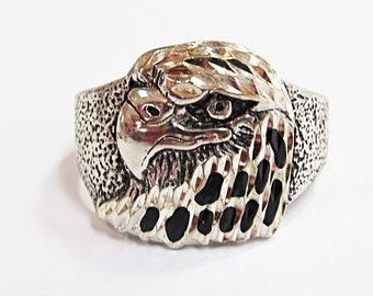 Vintage Sterling Silver Eagle Men's Ring