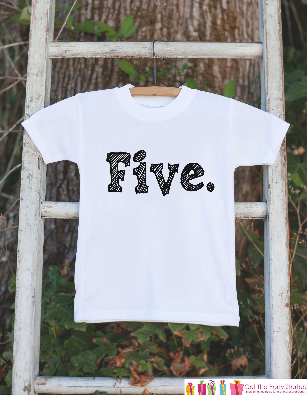 Birthday Shirts For 5 Year Old Boy
