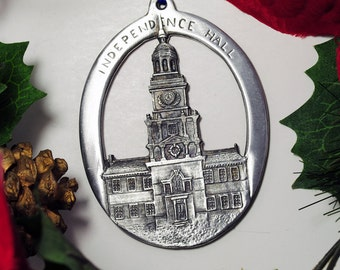 Independence Hall Christmas ornament made right outside of Philly