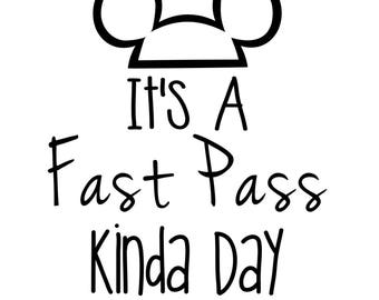 It's a fast pass kinda day