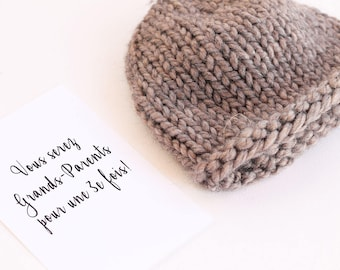 Baby announcement, pregnancy reveal, pregnant, grandparents, birth announcement, pregnancy announce, baby reveal, newborn hat, baby