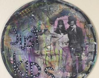 JUST KIDS patti smith robert mapplethorpe vinyl painting art abstract