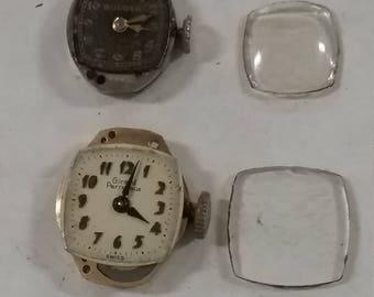 Vintage  lot of used watch parts lot af