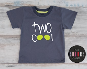 TWO COOL Shirt, Second Birthday Shirt, Birthday Shirt 2, Two Year Old Birthday T-Shirt, More Colors Available