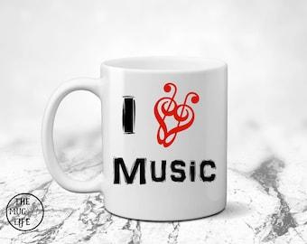 Music teacher gift, I love music, Music lover gift, gift for singer, coffee mug gift, teacher gift, funny mug, Teacher mug,