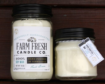 Fresh Linen Scented Soy Candle