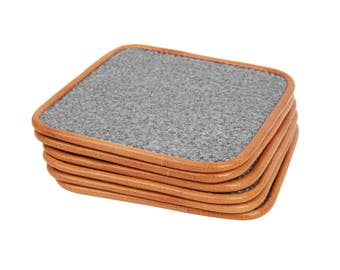 Lot 6 Table Mat Square Felt Drink Coasters Table Decor 3MM Thick Housewarming Hostess Gift