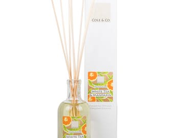 Welsh, Citrus and Refreshing White Tea & Mandarin Diffuser - Home Fragrance - A Gift For You and Your Home - Made in Wales - For Christmas