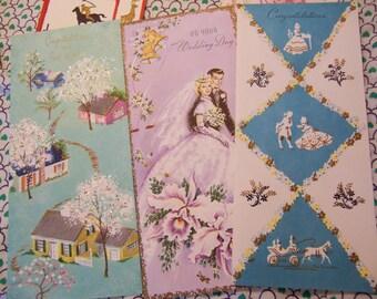 five lovely sunshine vintage cards