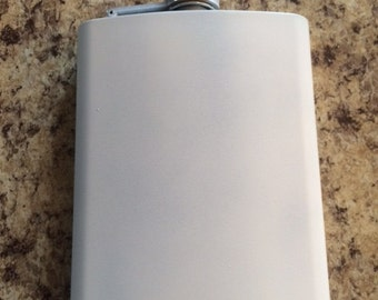 Flask, Stainless Steel Flask Primed, 1.00 Shipping(USA only), Primed Flask, Whiskey Primed Flask, Paint your own Flask