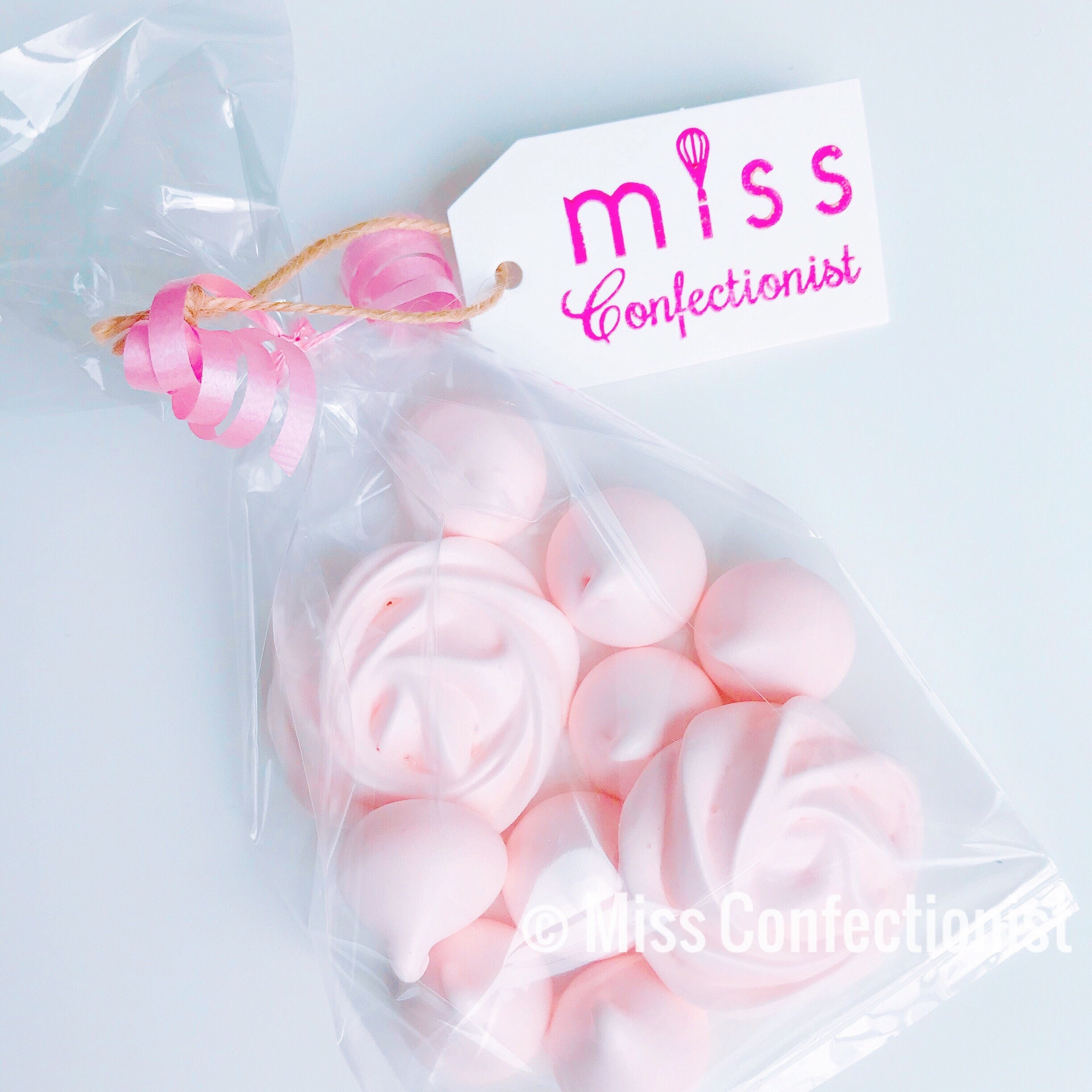 Meringue Cookies Roses & Kisses Wedding Favor Baby Shower