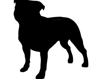 Staffordshire Bull Terrier Standard Decal (1 Color)