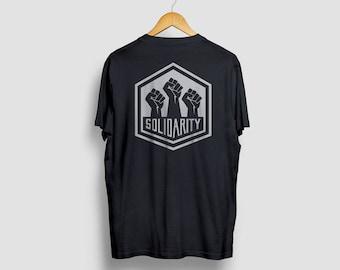 Solidarity T-shirt, Political Shirt, Resist Tshirt, Protest Tee, The Solidarity Movement Tees