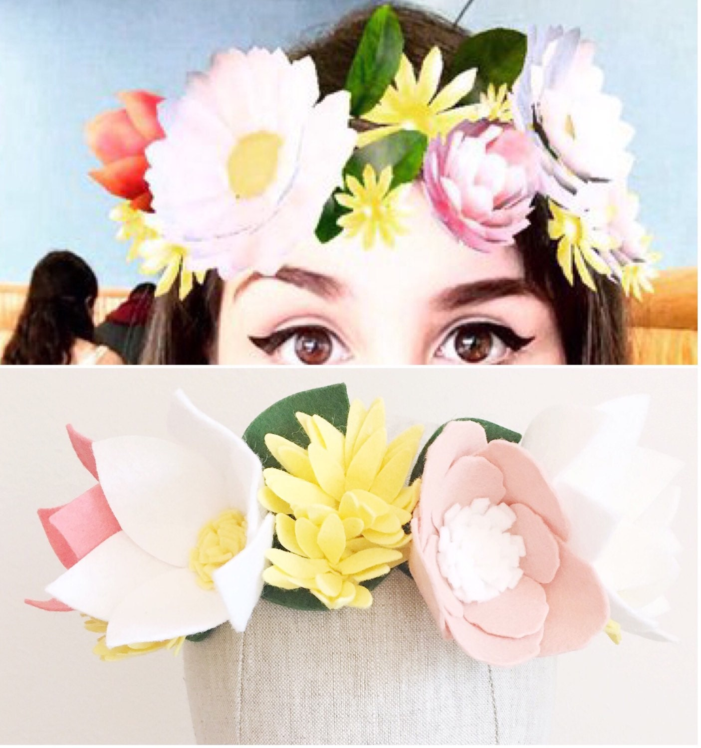 Snapchat flower crown snapchat crown felt flower crown zoom izmirmasajfo Image collections
